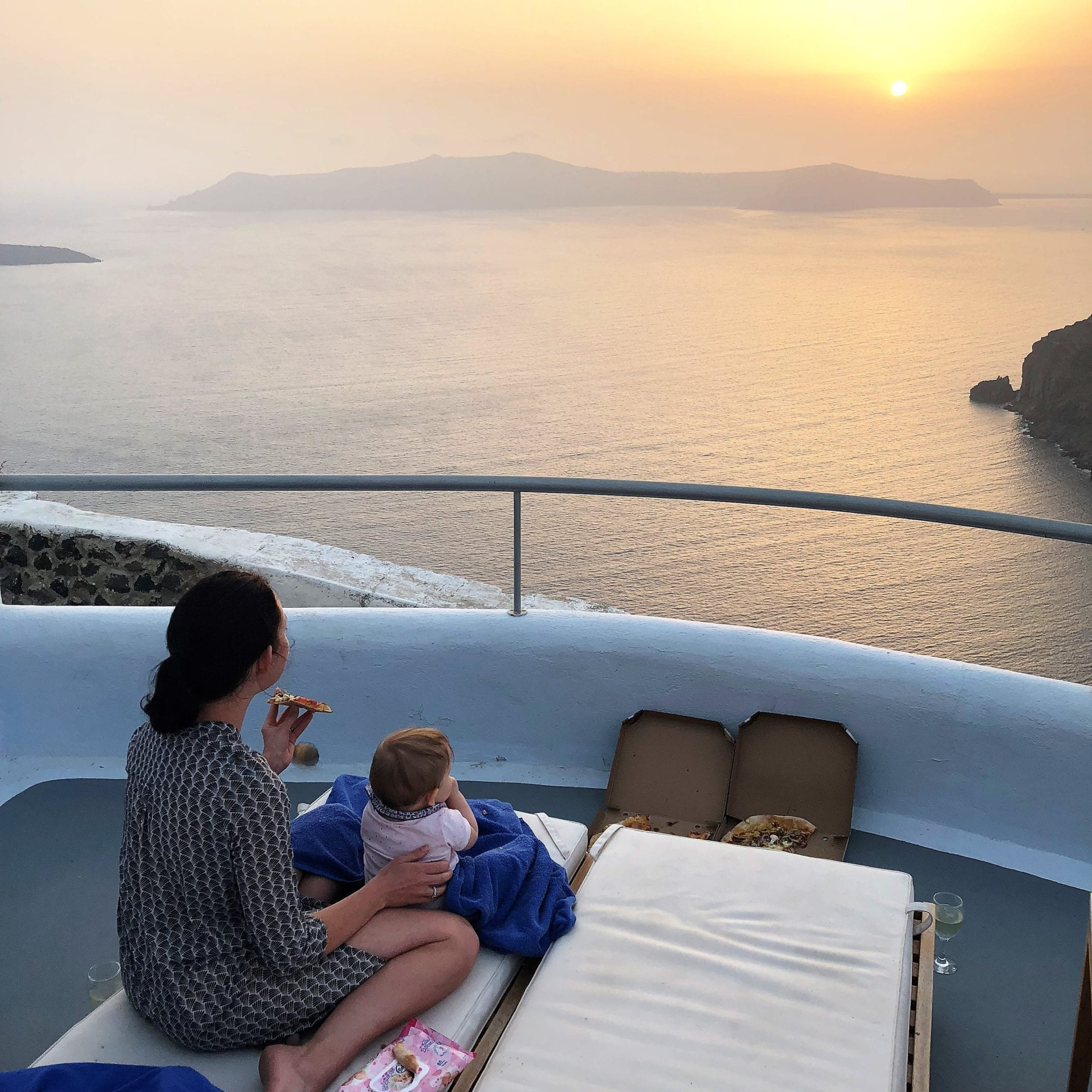 Santorini with a Baby