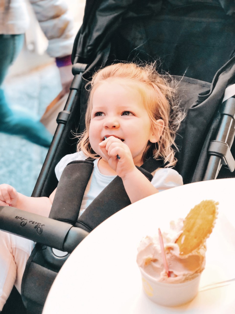 Toddler enjoying Gelato - Italy