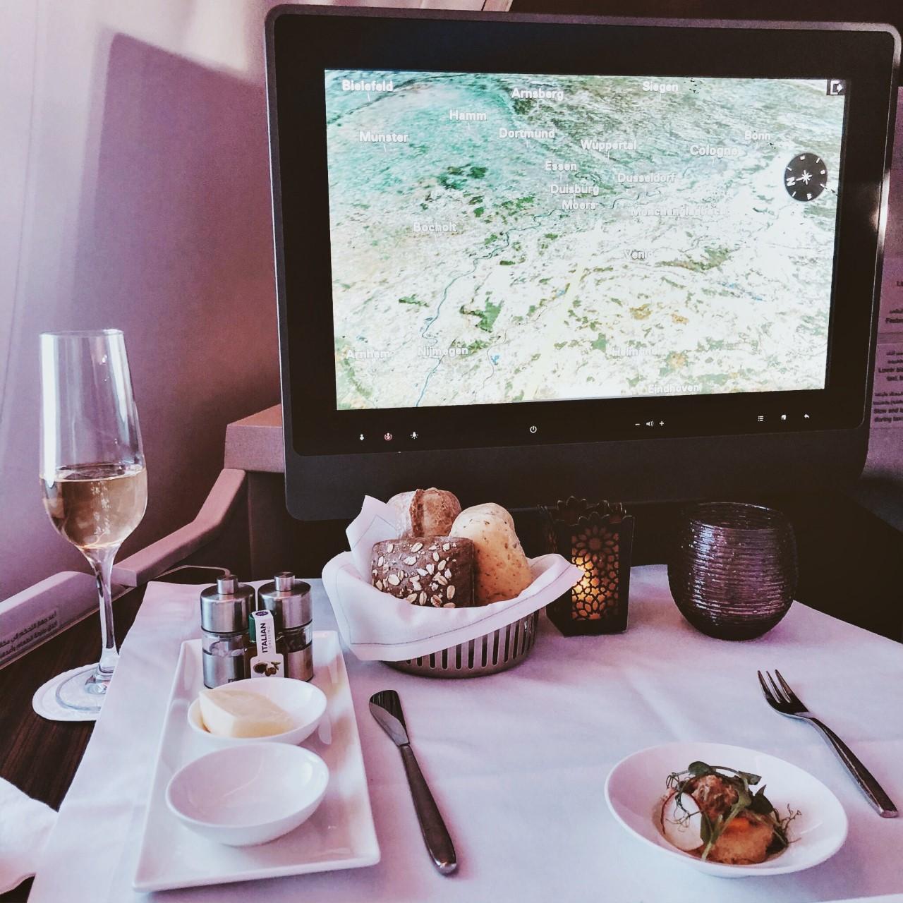 Qatar Business Class Meal