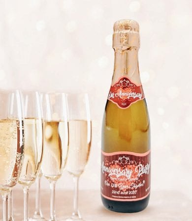 personalised champagne say it with champers